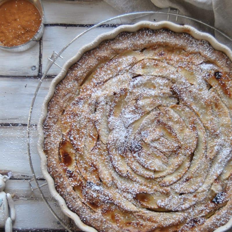 tarta de manzana con canela y coñac