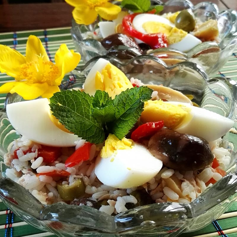 Ensalada de arroz ruso
