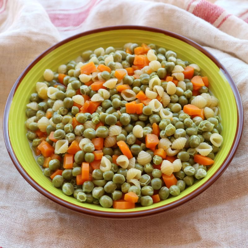 Peas, Carrots And Whole Pasta
