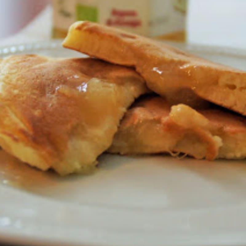 Crepes con peras mermelada