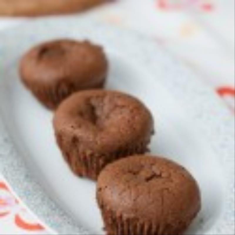 Empanadas de chocolate de corazón blando