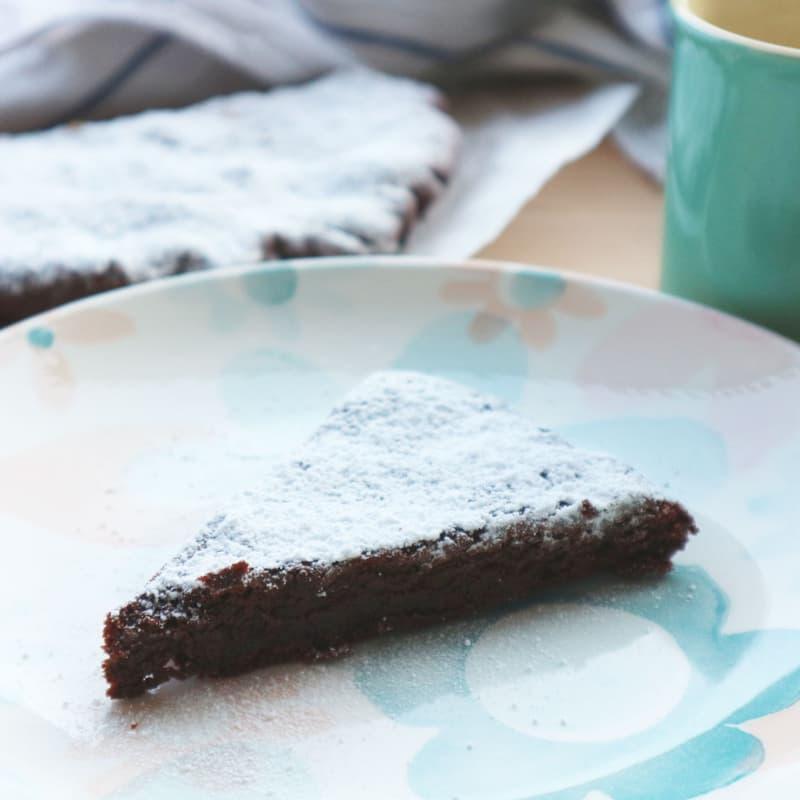 Pastel de chocolate sin levadura