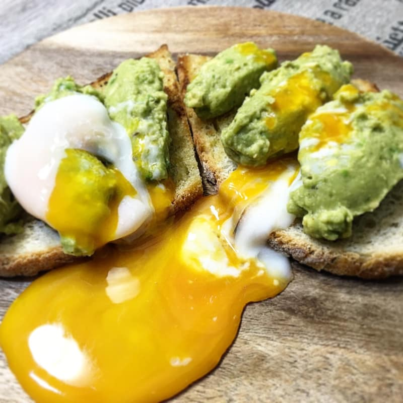 Avocado toast with egg in shirt