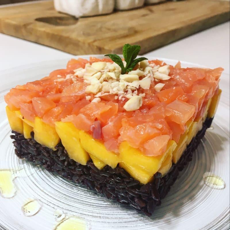 Venus rice, mango y tartar de salmón
