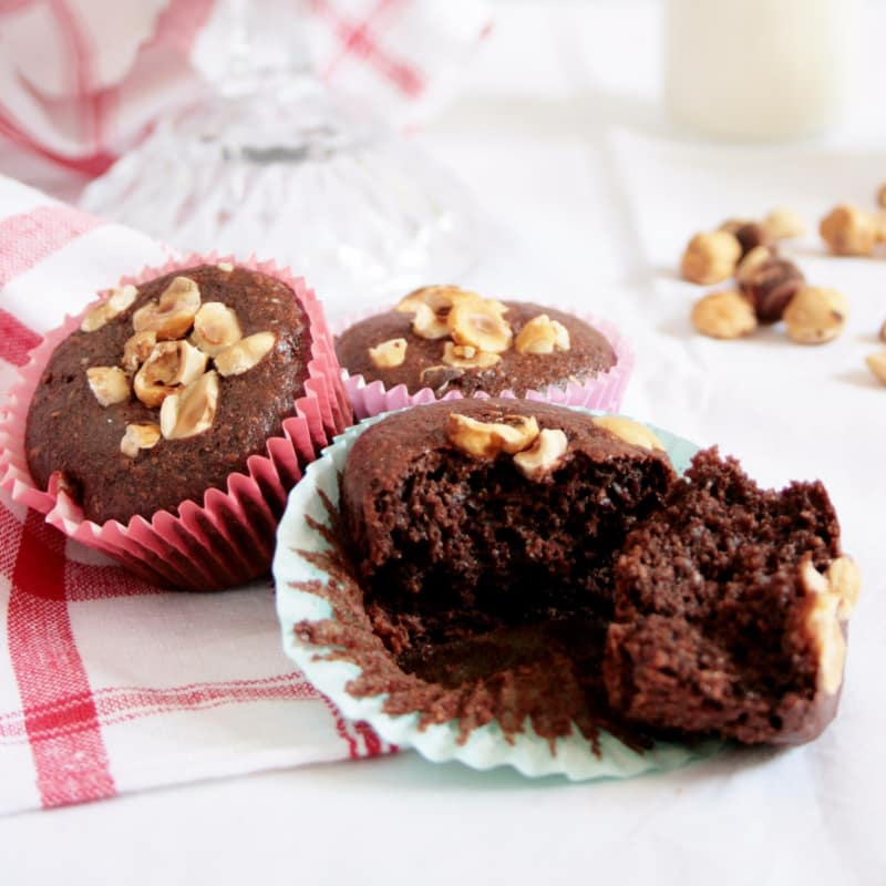 Muffin de chocolate vegetariana