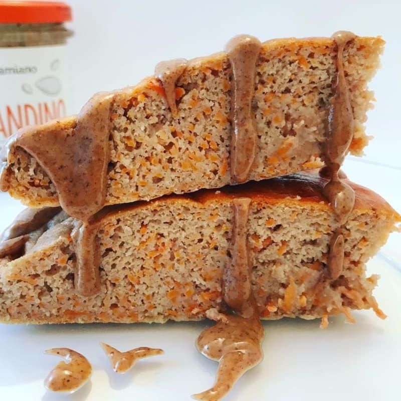 pastel de zanahoria proteínas