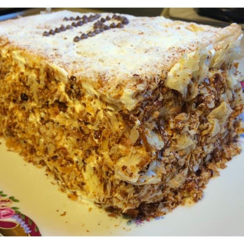 Milhojas Lactosa torta