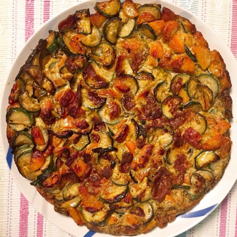 Frittata di zucchine e carote ai semi di finocchio