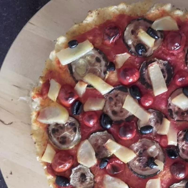 la luz de pizza de la coliflor