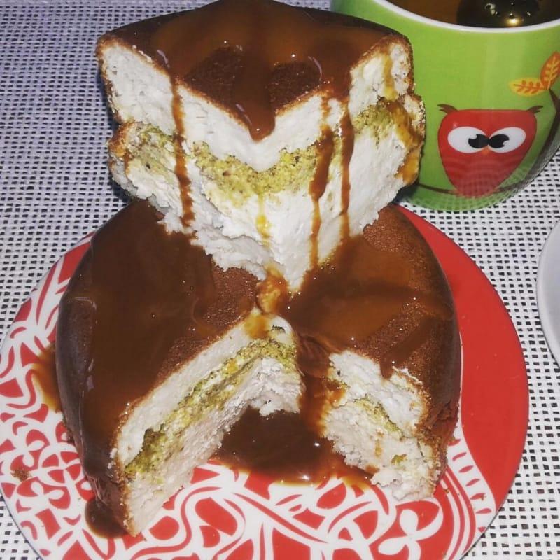 Cicciopancake con yogur de vainilla y pistachos
