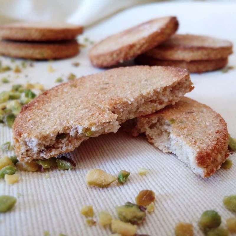 galletas de coco y pistacho