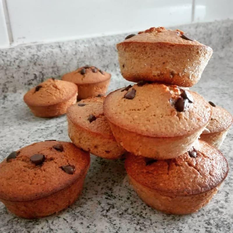 Cupcakes con gocce di cioccolato