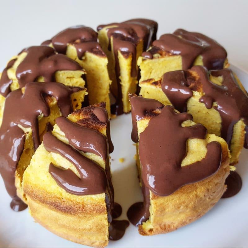 margherita crepe con chocolate cremoso y mantequilla de maní