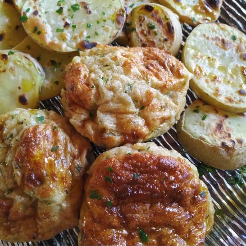 Muffin proteici alle zucchine