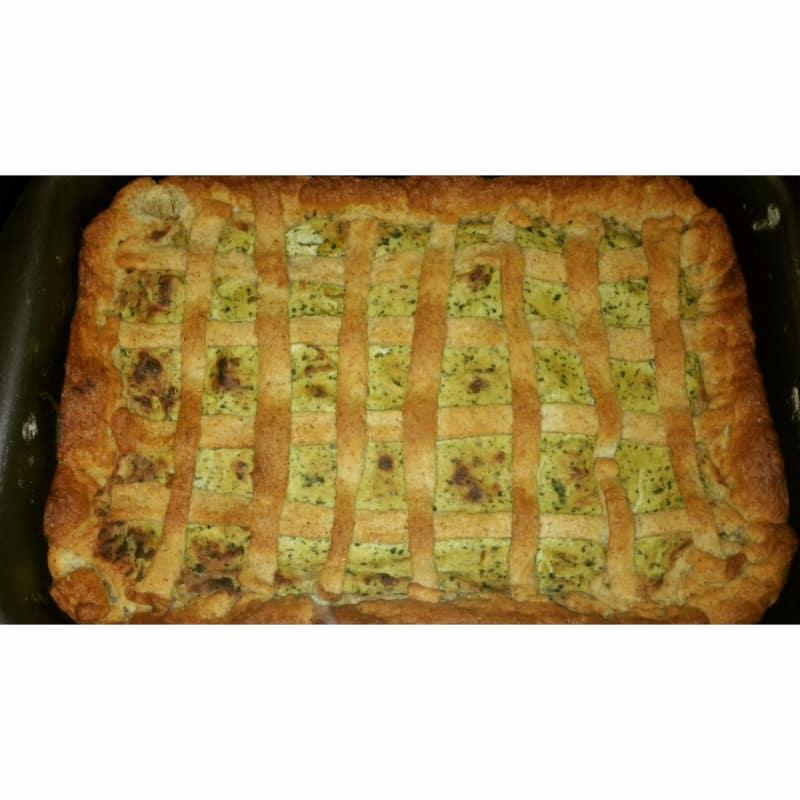 Tarta de queso de soja salada y calabacín