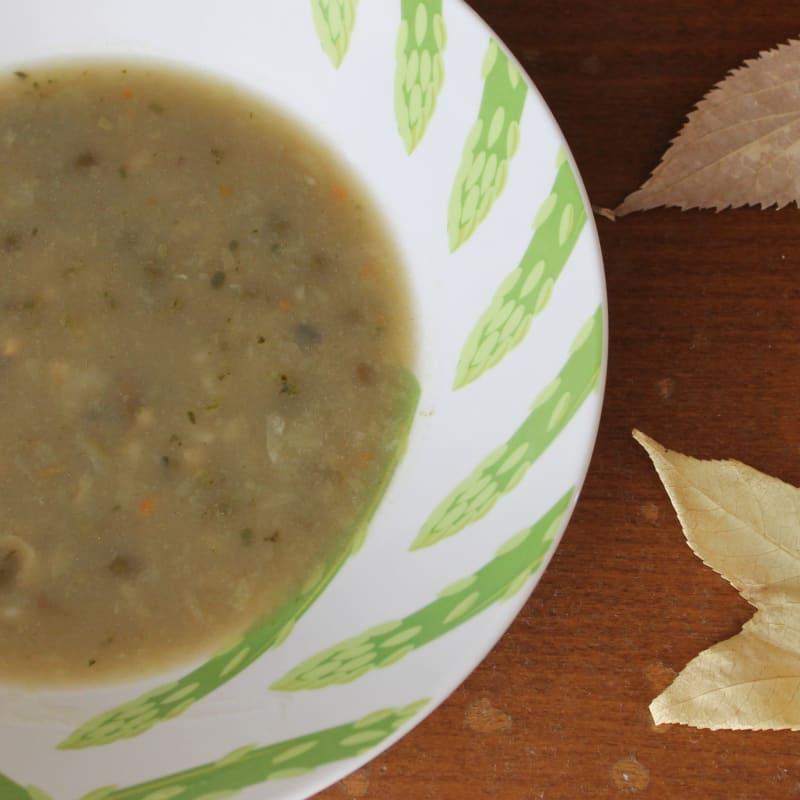 Sopa de espelta y legumbres