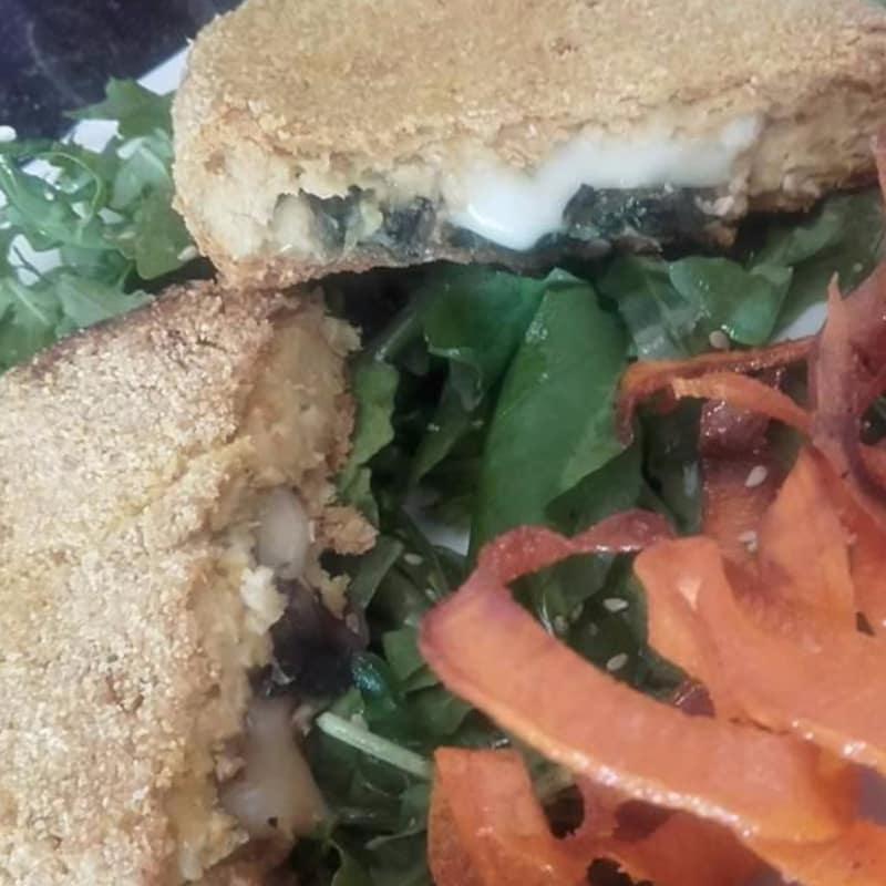 Cordon bleu soja y fideos de batata