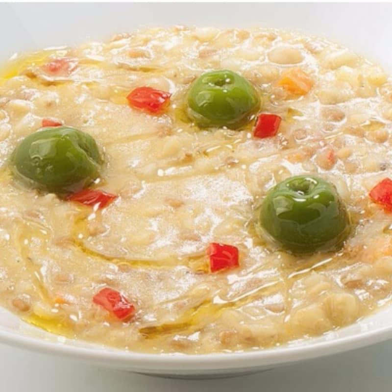 Zuppa di legumi con Olive di Castelvetrano