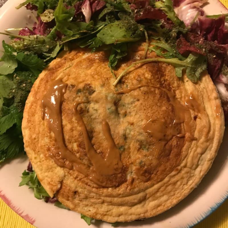 proteína salado panqueque