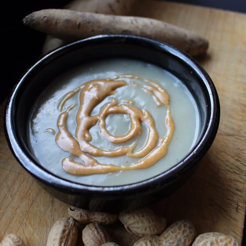 Crema de patata dulce y leche de coco