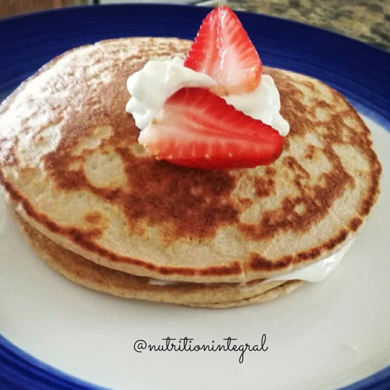 Pan cakes de avena y yogurt