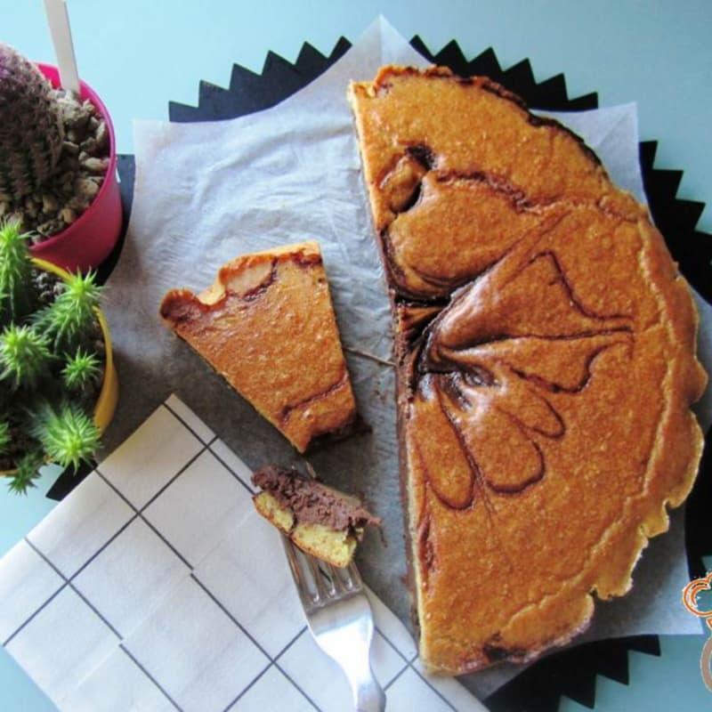Cioccopera torta con almendras