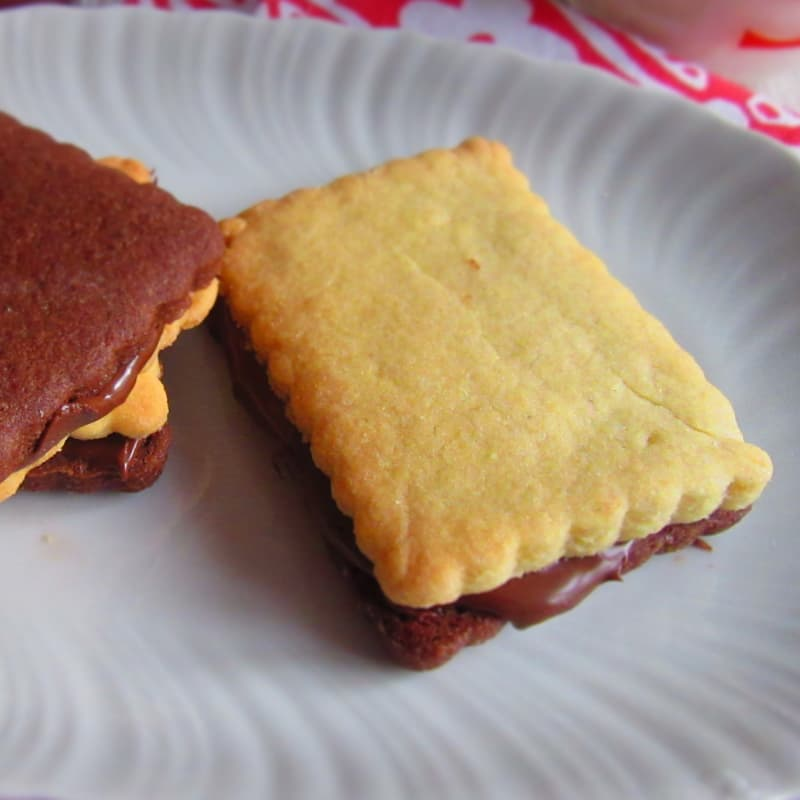 nutella galletas bicolor