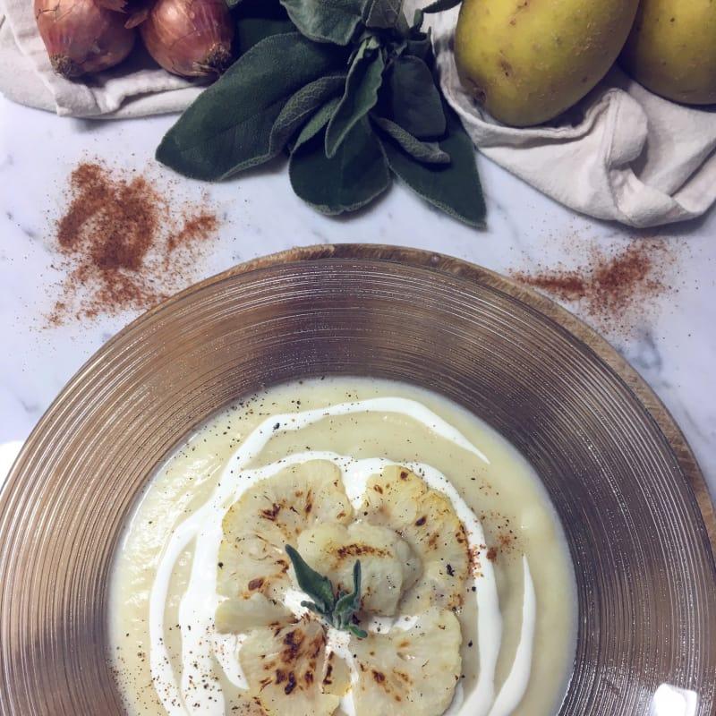 Crema de coliflor y patatas