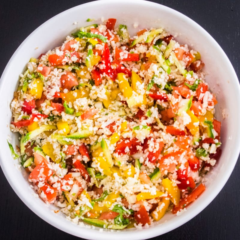 cuscús de coliflor all'insalata