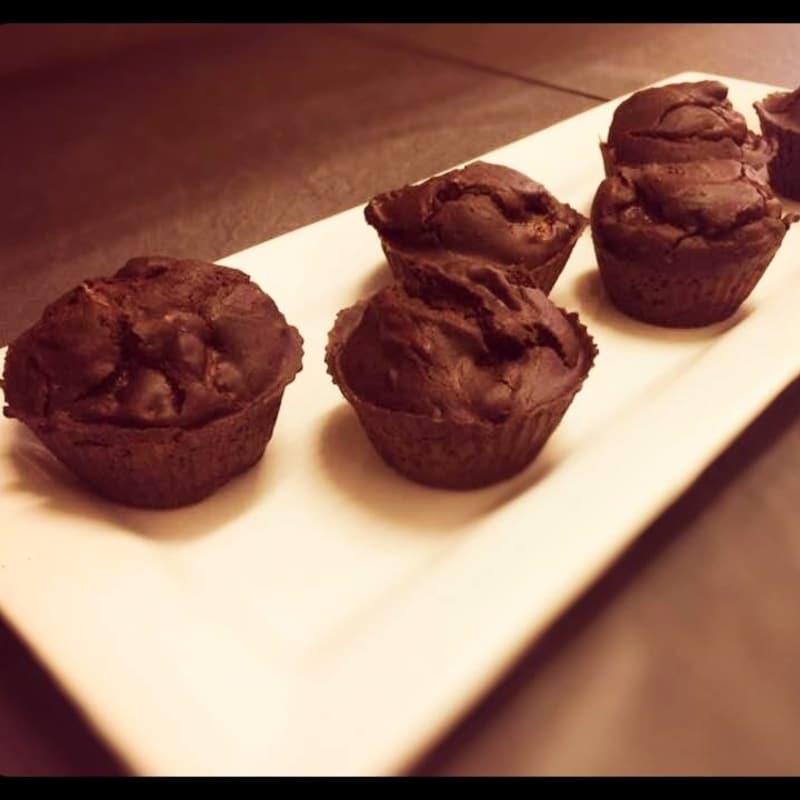 Muffin Fondente e Pere Vegani