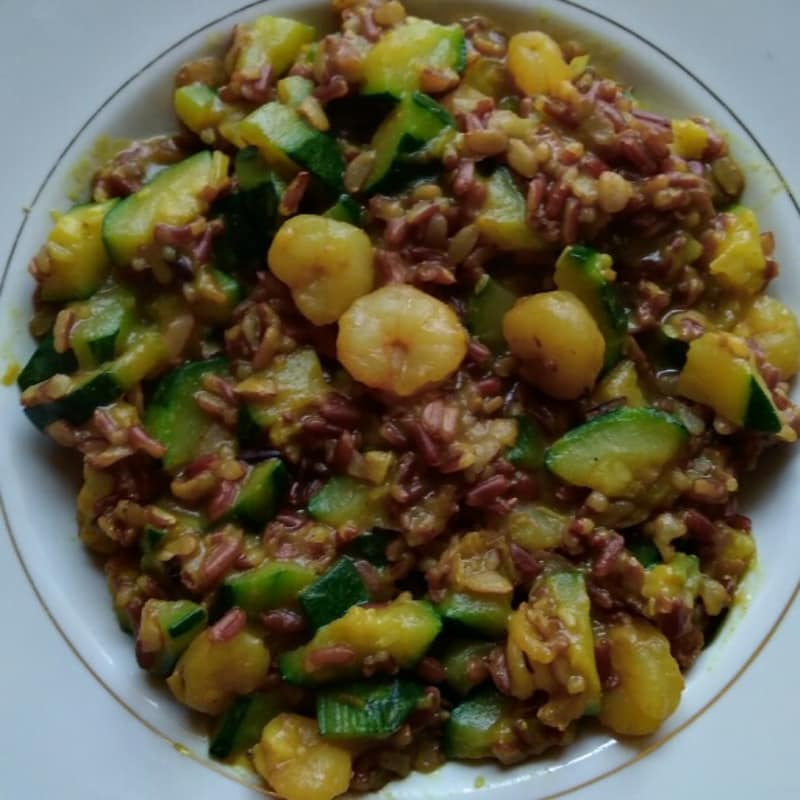 Riso rosso integrale profumato al curry