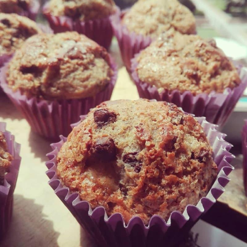 Muffins choco plátano