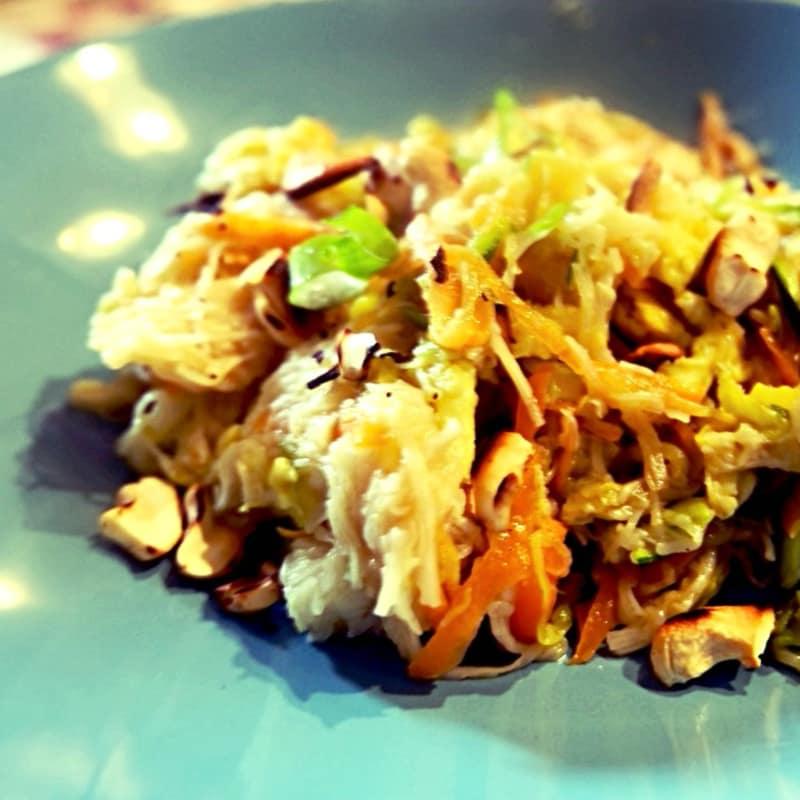 fideos de arroz con China