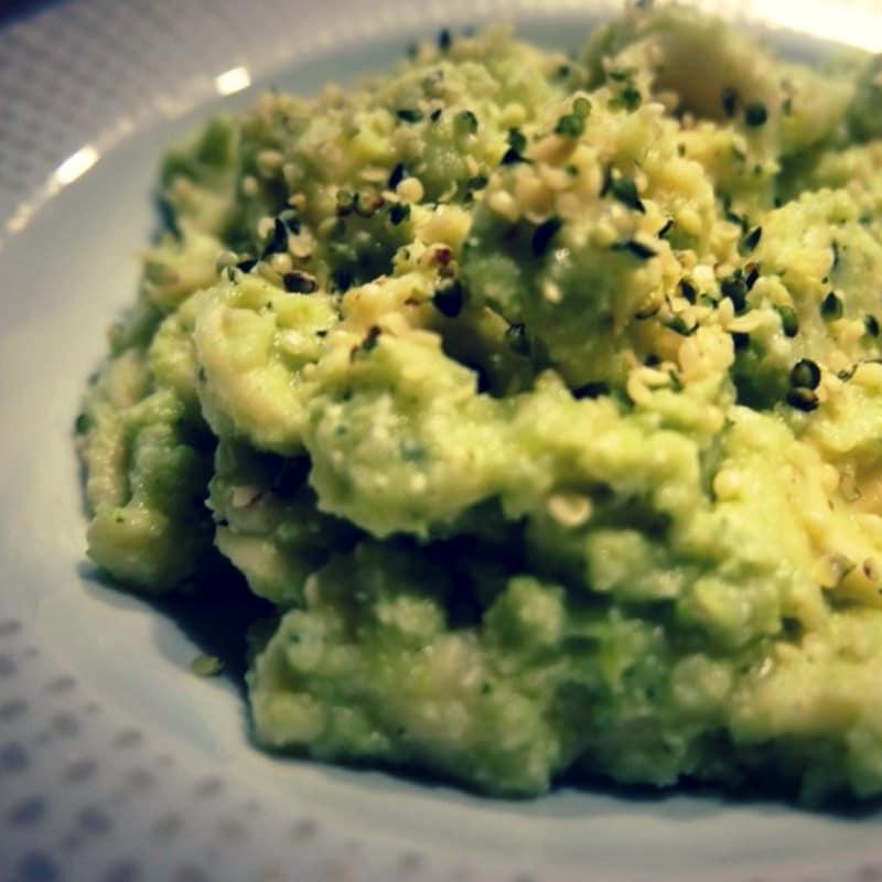 Orecchiette with cream of broccoli and hemp seeds