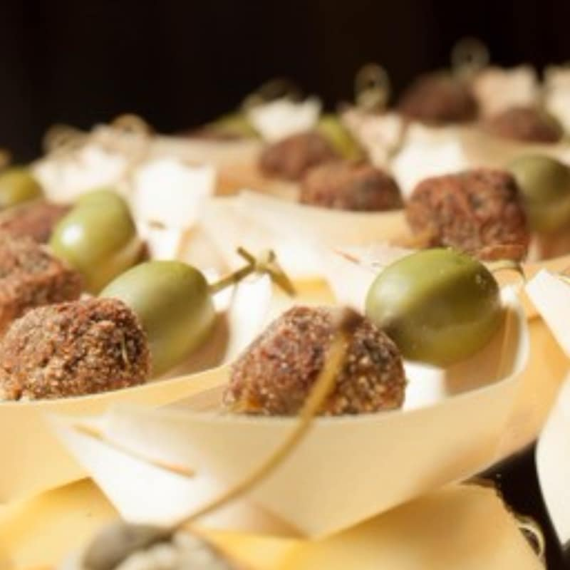 Eggplant polpettine with green olives