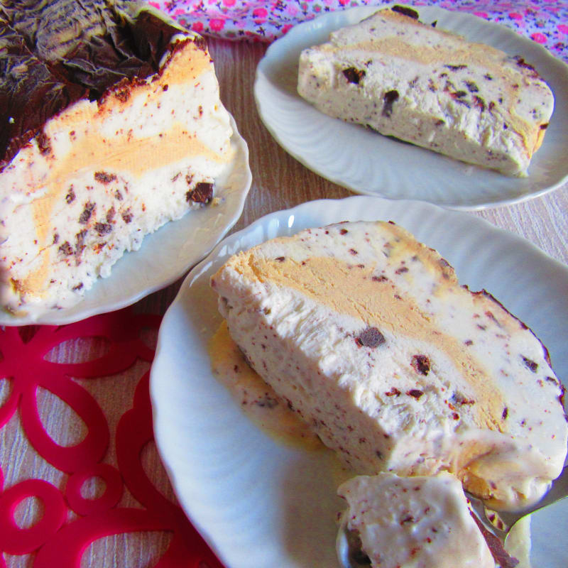Stracciatella and Coffee Ice Cream (without eggs and without ice cream maker