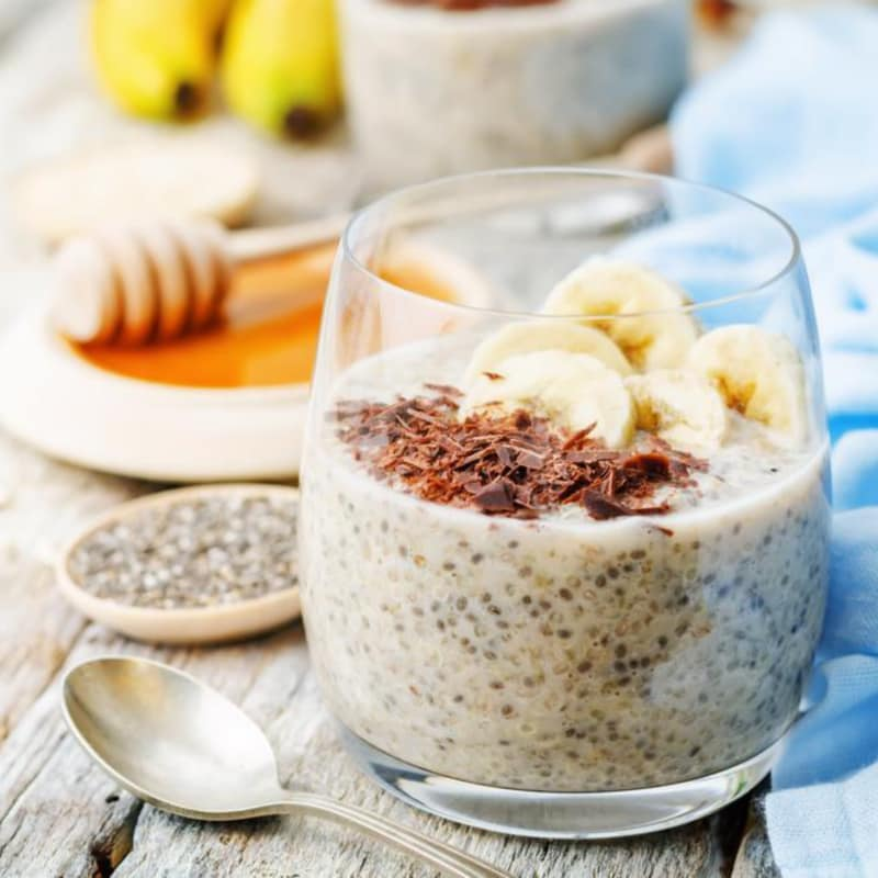 Banana pudding and chia seeds