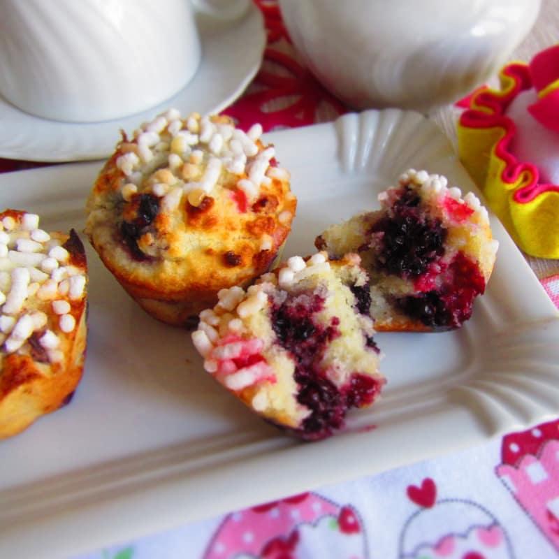 Muffins de coco y bayas (sin gluten)