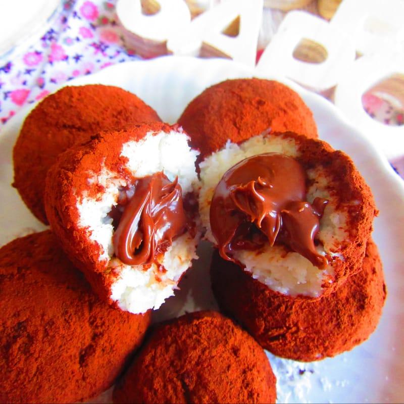 Coconut y Nutella Tartufini (receta muy rápida)