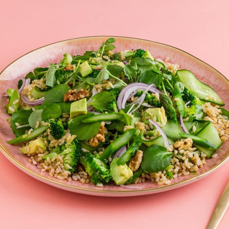 Insalata di riso super verde