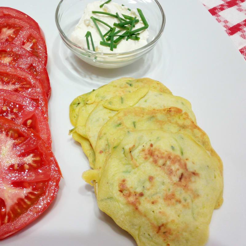 Panqueques salados con calabacín