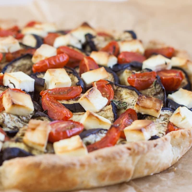 Savory pie feta and eggplant!