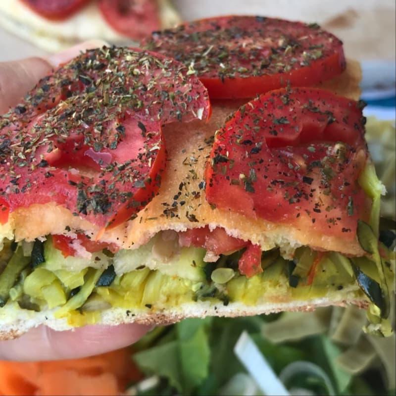 Pita light zucchine e curcuma