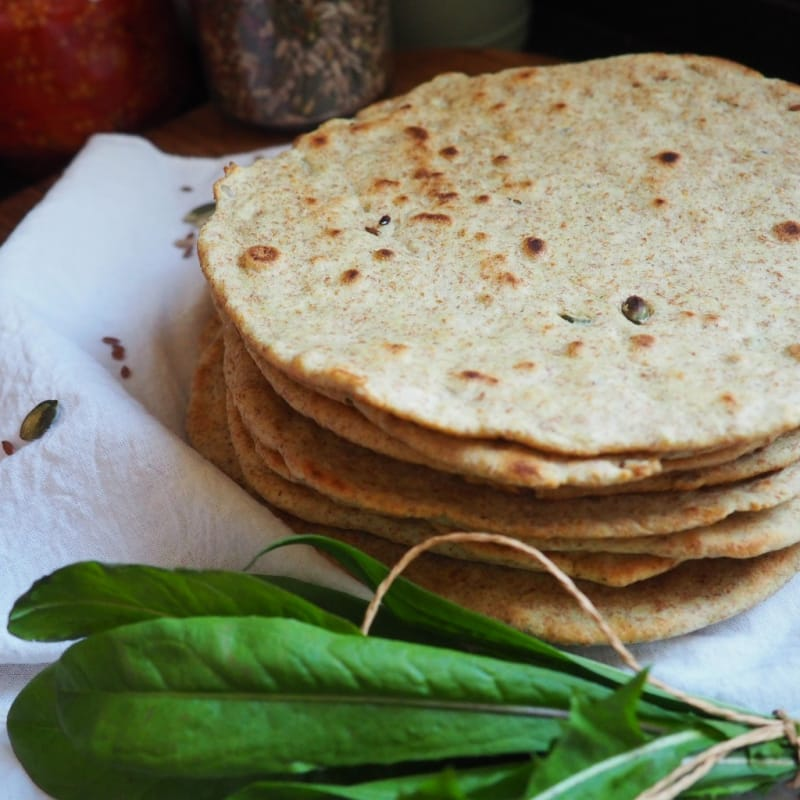 Integral piadina with seeds