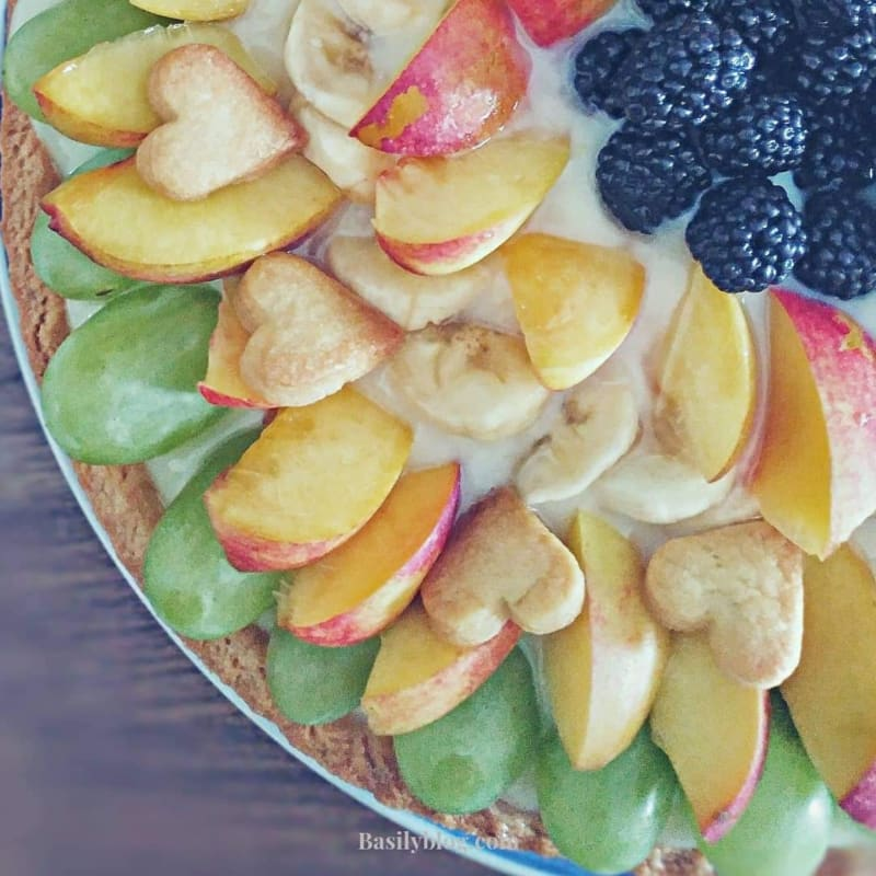 Fruit tart without milk