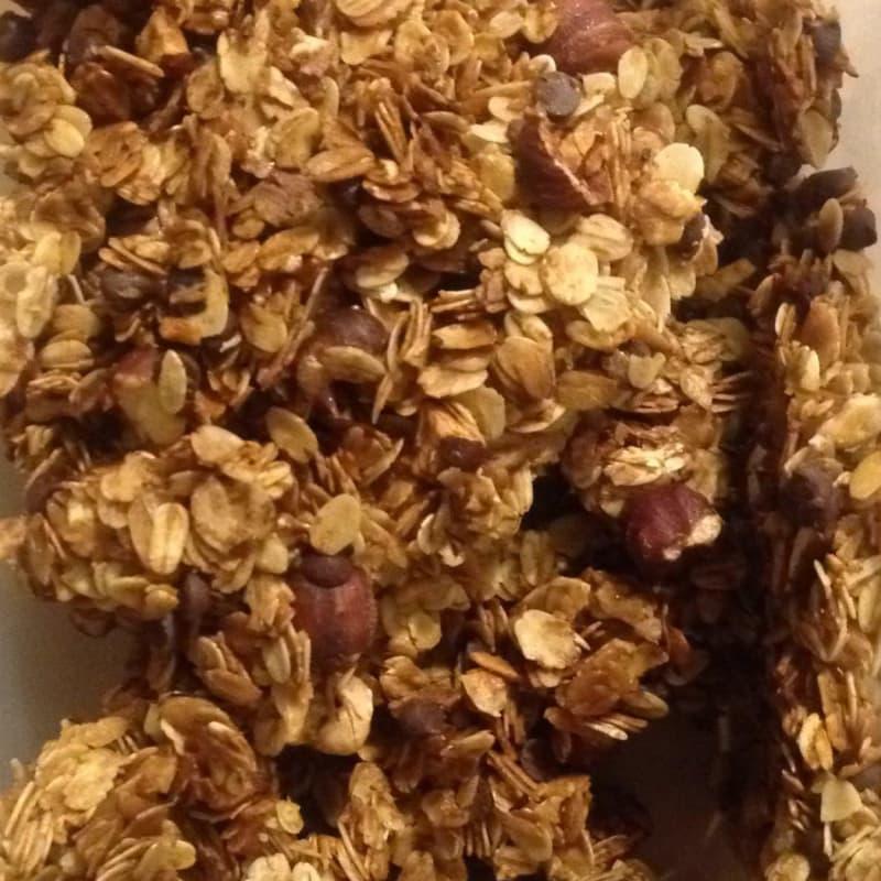 Oat granola and hazelnuts