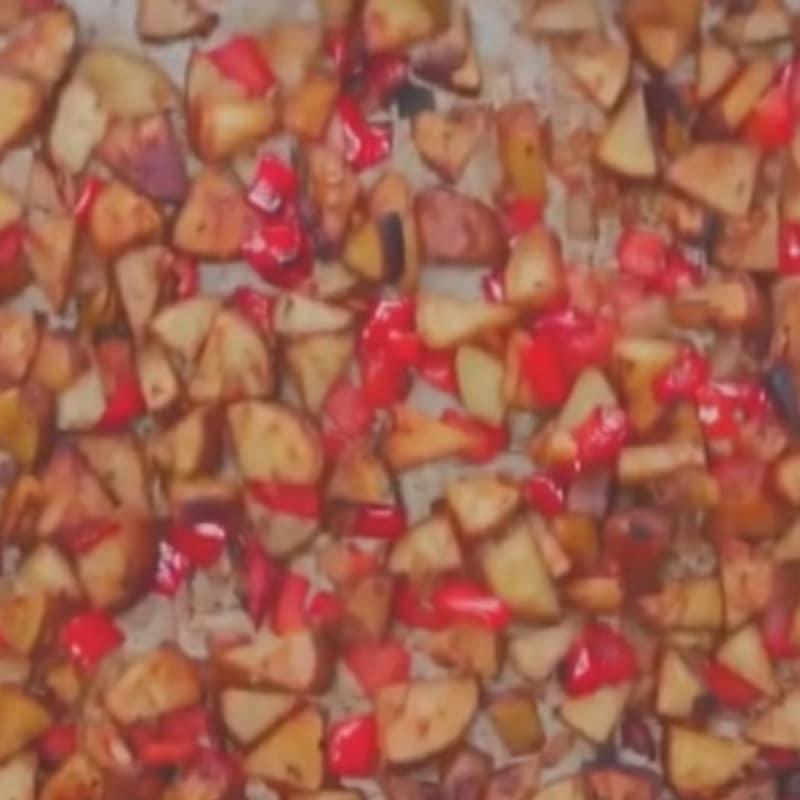 papas y pimientos