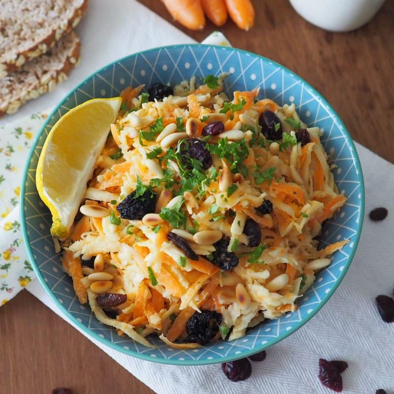 Insalata di sedano rapa e carote