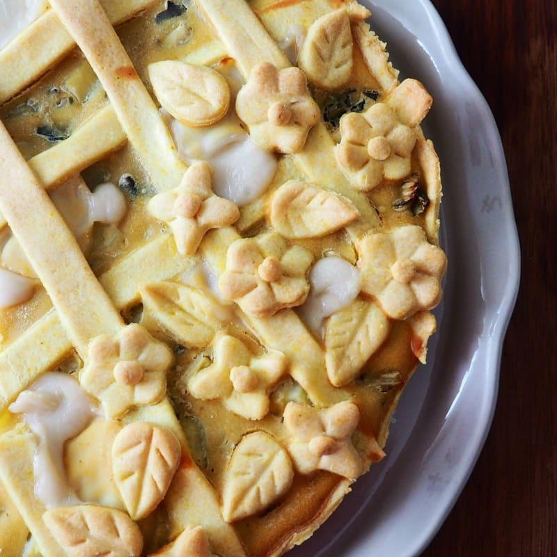 Crujiente salado sin mantequilla y huevos.