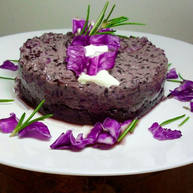 Riso Artemide con crema di cavolo viola